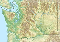 Location of Osoyoos Lake in Washington, USA and British Columbia, Canada.