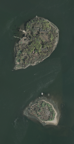 USGS orthophoto of North Brother Island and South Brother Island - Bronx County.png