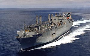 Large, Medium-Speed Roll-on/Roll-off - USNS Shughart at sea