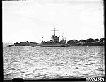 USS ASTORIA at anchor in Farm Cove, Sydney, August 1934 (8177882823).jpg