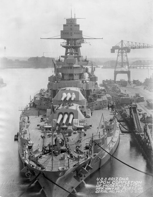 USS Arizona after 1931 modernization NARA 19-LC-19B-5