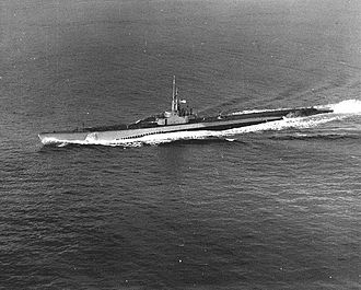 USS Blower (SS-325) - Blower (SS-325), underway, c. 1944-50.