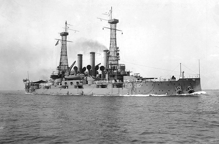 USS Connecticut BB-18 underway
