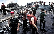 USS Forrestal 1967 fire aftermath