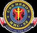 USS Heron MCH-52 Crest.png