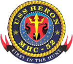 USS Heron MCH-52 Crest.png