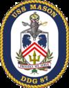 USS Mason DDG-87 Crest.png