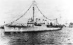 USS Meade (DD-274) at anchor off San Diego, circa in 1920 (NH 49833).jpg