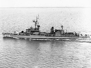 Gearing-class destroyer - Image: USS Norris (DD 859) at sea in May 1966