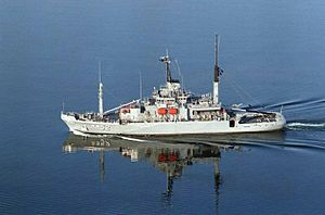 USNS Salvor (T-ARS-52) - Official US Navy photo of USS Salvor in early configuration.