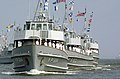 US Navy 000615-N-5390M-001 YP craft pass in review during Midshipmen summer training.jpg