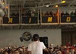 US Navy 031219-N-5471P-005 Actor-comedian Robin Williams entertains the crew of USS Enterprise (CVN 65).jpg