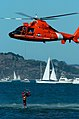 US Navy 041009-N-6932B-350 A U.S. Coast Guard HH-65A Dolphin helicopter performs an open-water rescue demonstration in the San Francisco Bay during Fleet Week air show demonstrations.jpg