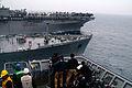 US Navy 060401-N-4772B-016 The amphibious dock landing ship USS Harpers Ferry (LSD 49) pulls alongside starboard of the Military Sealift Command (MSC) underway replenishment oiler USNS Walter S. Diehl (T-AO 193).jpg