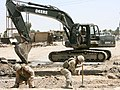 US Navy 060616-N-9712C-007 Seabees assigned to Naval Mobile Construction Battalion Four Zero (NMCB-40) were tasked with rebuilding a damaged bridge used heavily by Iraqi citizens.jpg