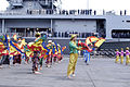US Navy 070216-N-9604C-074 Dancers from Mindanao State University perform live at the welcoming ceremony of amphibious command ship USS Blue Ridge (LCC 19), during a scheduled port visit to General Santos City.jpg