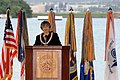 US Navy 071207-N-4965F-007 The Honorable Linda Lingle, Governor of Hawaii, delivers her remarks during a joint U.S. Navy-National Park Service ceremony.jpg