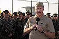 US Navy 080111-N-5366K-123 Adm. Gary Roughead, Chief of Naval Operations (CNO), addresses Sailors at the Naval Special Warfare Command.jpg