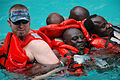 US Navy 090205-N-1655H-515 John LaFargue, a National Oceanic and Atmospheric Administration Fisheries logistical trainer conducts water survival training with Senegalese marine biologists during an Africa Partnership Station tr.jpg