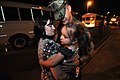 US Navy 100505-N-7367K-001 Steelworker 2nd Class Jean-Luc Pelchats the first to greet his family during his battalion's homecoming at Naval Construction Battalion Center, Gulfport.jpg