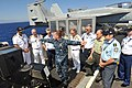 US Navy 110625-N-CH661-117 Rear Adm. Terry B. Kraft, commander of the Enterprise Carrier Strike Group, shows military officials from Greece the lan.jpg