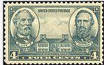 US postage stamp showing Lee, Jackson and Stratford Hall.jpg