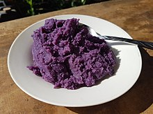 Ube halaya - mashed purple yam (Philippines) 01.jpg