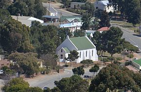 Uniondale, Old Dutch Reformed Church from the fort