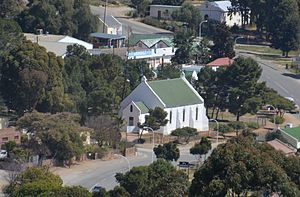 Uniondale, Western Cape - Uniondale, Old Dutch Reformed Church from the fort
