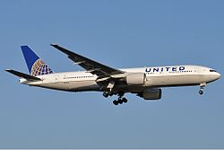 Boeing 777-200 der United Airlines