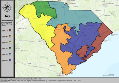 United States Congressional Districts in South Carolina, 1993 – 2002.tif