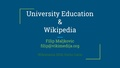 University Education & Wikipedia, Wikimania 2016.pdf