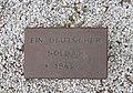 Unknown soldier, 1945, war cemetery near Unkel, Germany.JPG