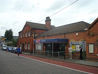 Upminster station - The side entrance to Upminster station