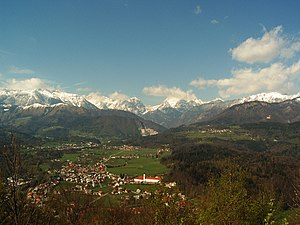 Kamnik - Image: Upper Kamnik valley and Alps