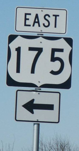 U.S. Route 175 - Marker for U.S. Highway 175 east of Kaufman
