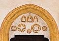 Völkermarkt St. Margarethen ob Töllerberg 2 Pfarrkirche hl. Margaretha Portal Tympanon 03012019 5818.jpg