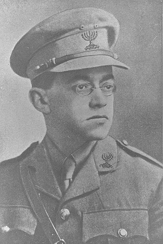 Betar - Ze'ev Jabotinsky, the founder and first leader of Betar, shown here in Jewish Legion uniform.