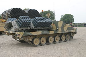 Shielder minelaying system - Shielder mounted on the Alvis Stormer AFV