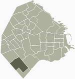 Location of Villa Lugano within Buenos Aires