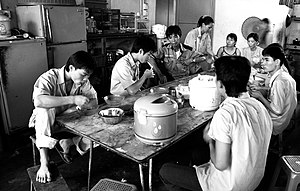 Vietnamese in Malaysia - A group of Vietnamese factory workers having a break in Taiping, Perak