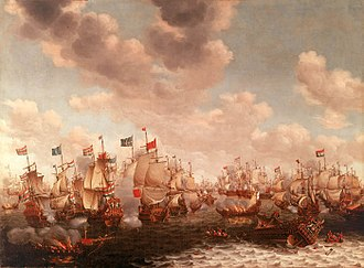 Netherlands - The Four Days' Battle, 1–4 June 1666 (Second Anglo–Dutch War) by Pieter Cornelisz van Soest