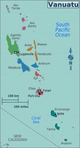 Map of Vanuatu - Vanuatu - Country information - Library guides at QUT