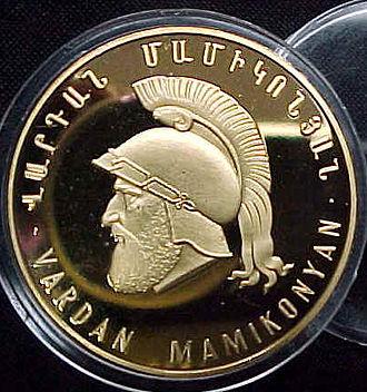 Mamikonian - Armenian medal representing Vartan Mamikonian