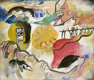 Wassily Kandinsky - Wassily Kandinsky, Improvisation 27 (Garden of Love II), 1912, oil on canvas, 47 3/8 x 55 1/4 in. (120.3 x 140.3 cm), The Metropolitan Museum of Art, New York. Exhibited at the 1913 Armory Show.