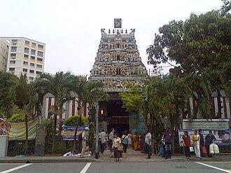 Little India, Singapore - Veeramakaliamman Temple, Little India