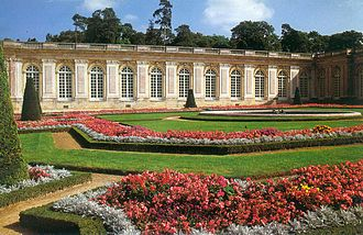 French formal garden - Gardens of the Grand Trianon at the Palace of Versailles.