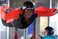 Vertical wind tunnel simulated skydiving.jpg