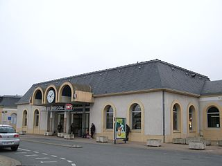 railway station in Vierzon, France