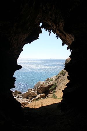 Gorham's Cave - Image: View from Gorham's Cave, Gibraltar